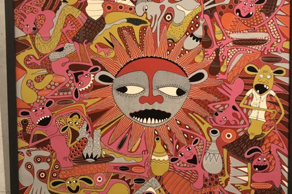 精霊を描くタンザニアのアーティスト ヘンドリック・リランガの楽しい世界